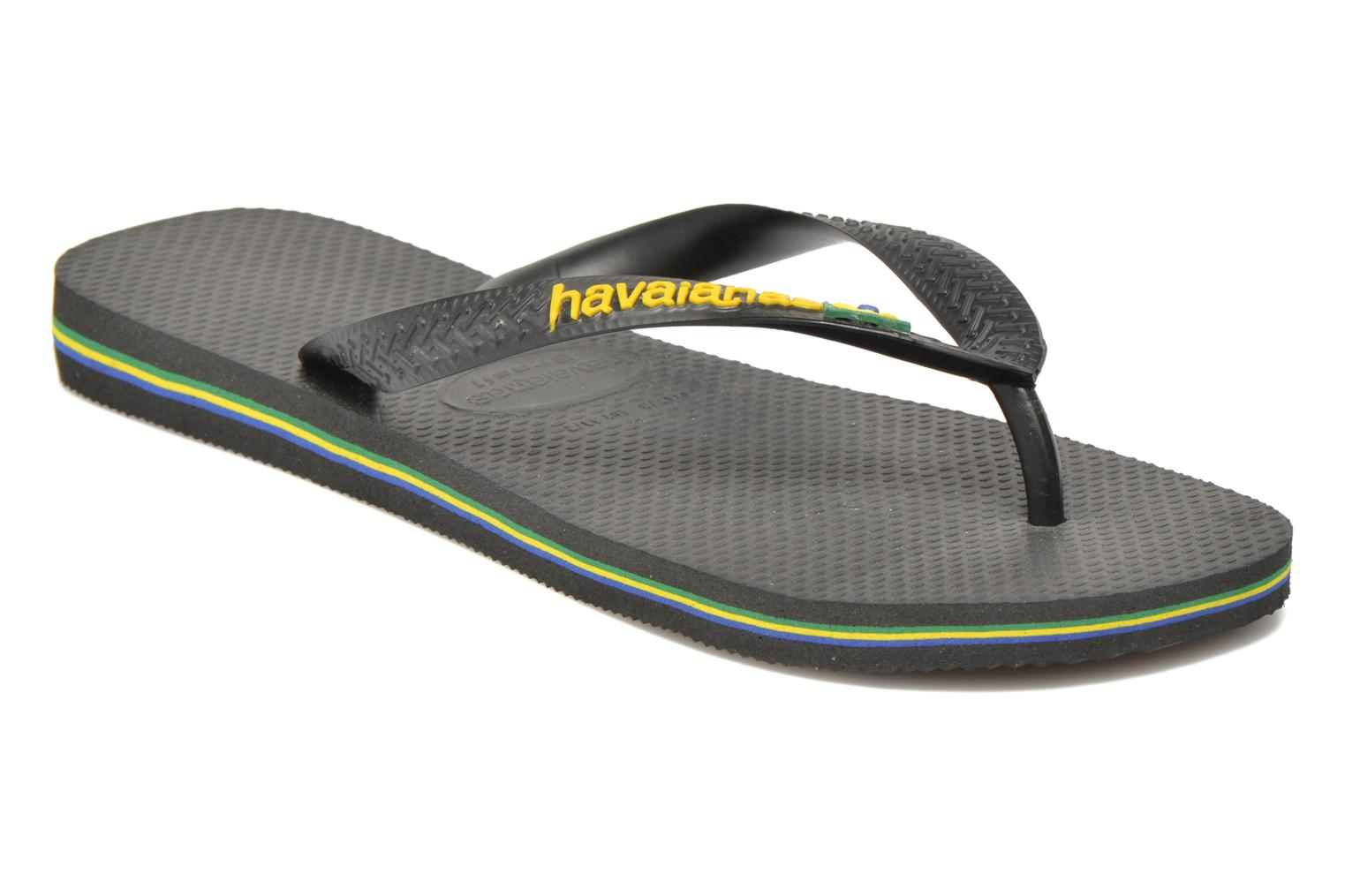Flip flops Havaianas Brasil Logo F Black detailed view/ Pair view