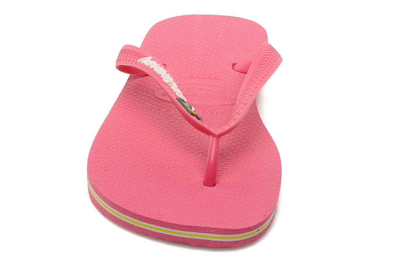 Slippers Havaianas Brasil Logo F Roze model