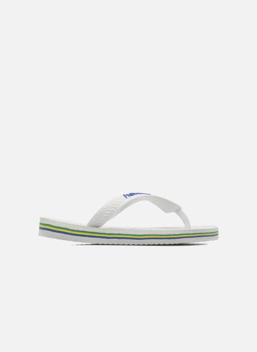 Slippers Havaianas Brasil Logo E Wit achterkant