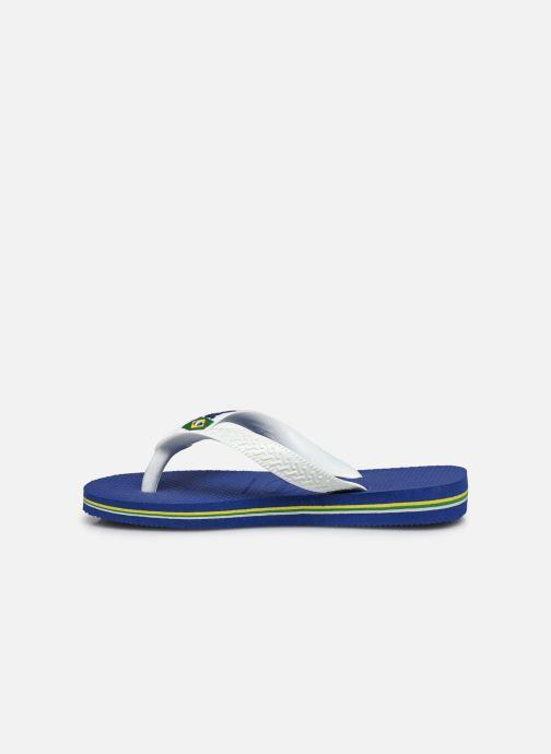Flip flops Havaianas Brasil Logo E Blue front view
