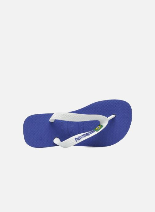 Tongs Havaianas Brasil Logo E Bleu vue gauche