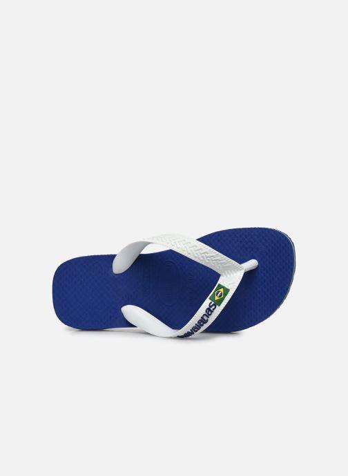 Infradito Havaianas Brasil Logo E Azzurro immagine sinistra