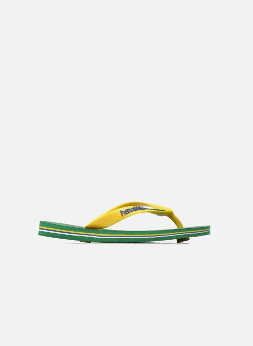 Zehensandalen Havaianas Brasil Logo E grün ansicht von hinten