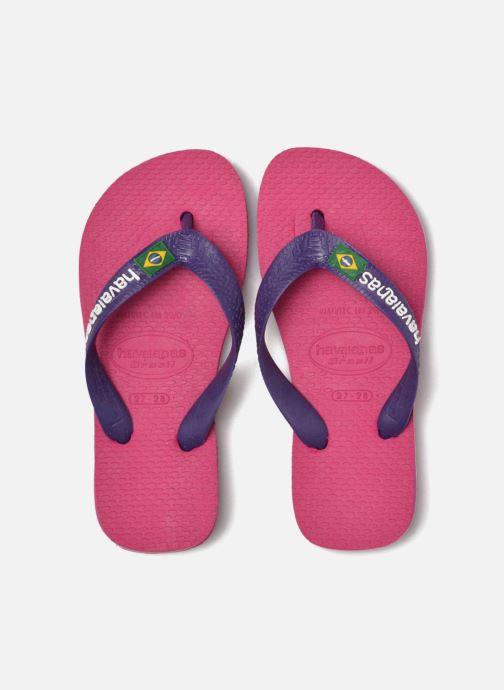 Flip flops Havaianas Brasil Logo E Pink 3/4 view