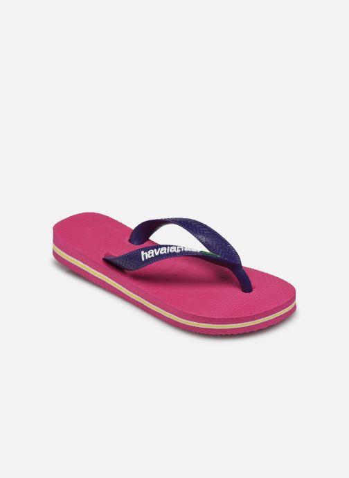 Flip flops Havaianas Brasil Logo E Pink model view