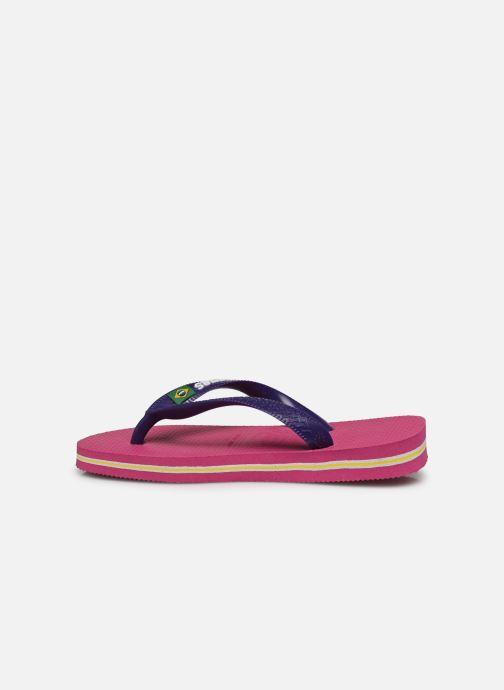 Flip flops Havaianas Brasil Logo E Pink front view