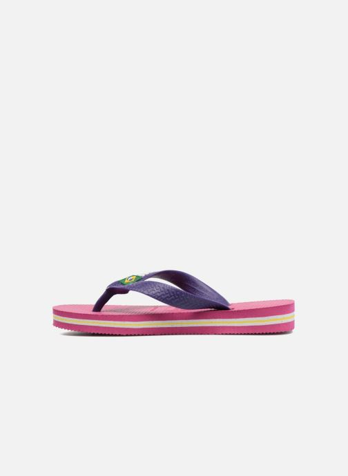 Tongs Havaianas Brasil Logo E Rose vue face