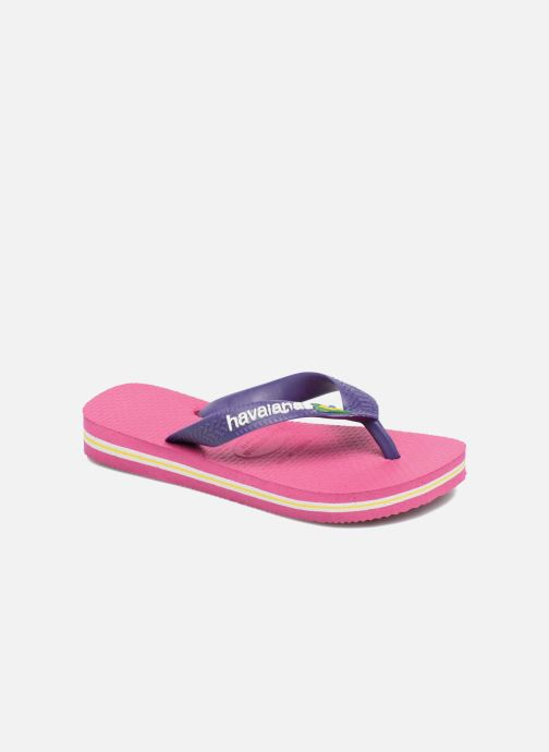 Flip flops & klipklapper Havaianas Brasil Logo E Pink detaljeret billede af skoene