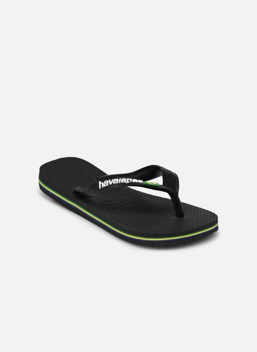 Tongs Havaianas Brasil Logo E Noir vue portées chaussures