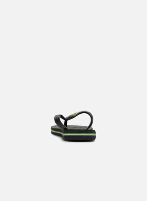 Flip flops Havaianas Brasil Logo E Black view from the right
