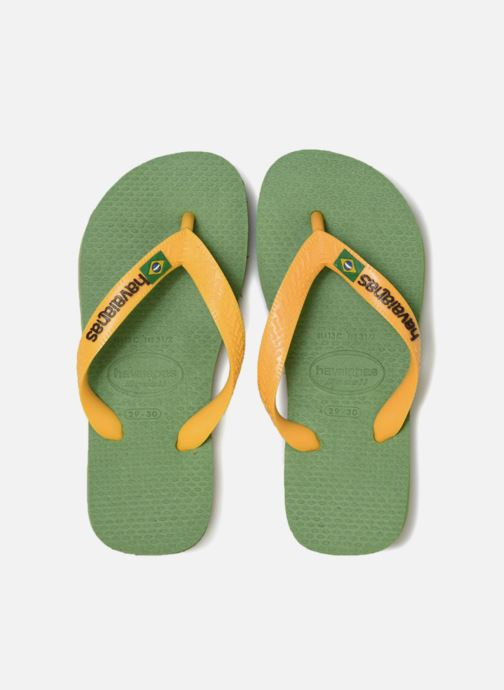 Flip flops Havaianas Brasil Logo E Green model view