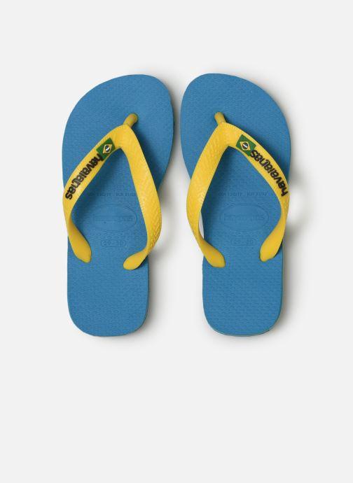 Chanclas Havaianas Brasil Logo E Azul vista del modelo