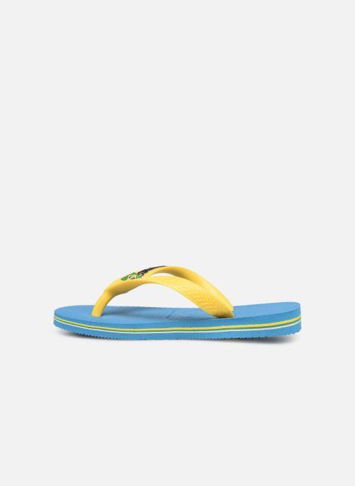 Flip flops & klipklapper Havaianas Brasil Logo E Blå se forfra