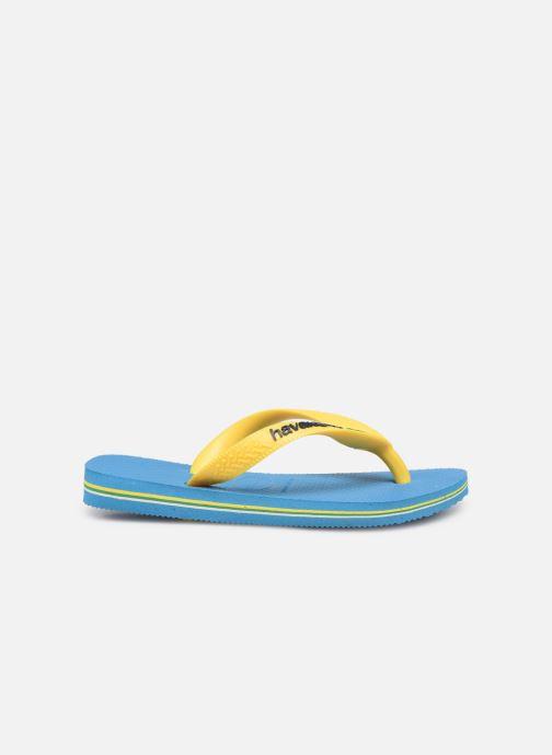 Flip flops & klipklapper Havaianas Brasil Logo E Blå se bagfra