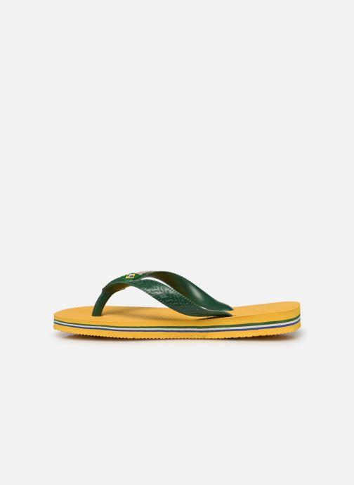 Chanclas Havaianas Brasil Logo E Amarillo vista de frente