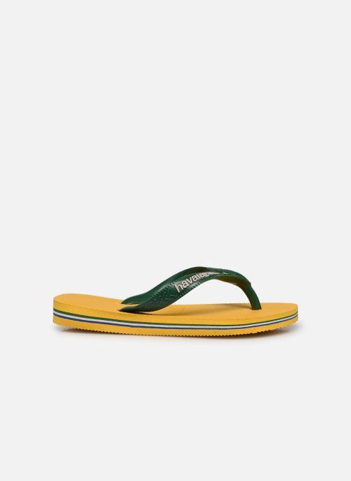 Zehensandalen Havaianas Brasil Logo E gelb ansicht von hinten
