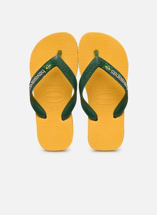 Flip flops & klipklapper Havaianas Brasil Logo E Gul detaljeret billede af skoene