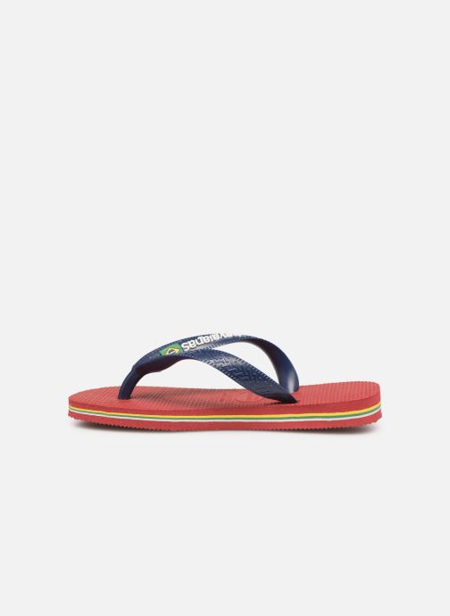 Tongs Havaianas Brasil Logo E Bordeaux vue face