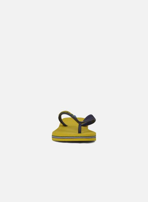Chanclas Havaianas Brasil Logo E Amarillo vista del modelo