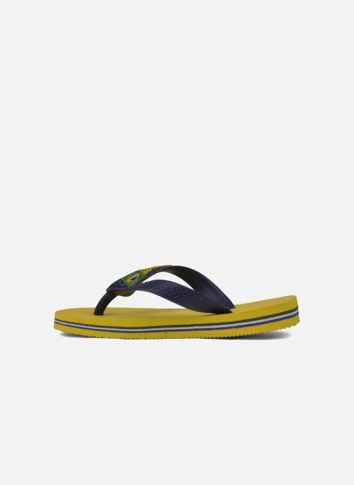 Slippers Havaianas Brasil Logo E Geel voorkant