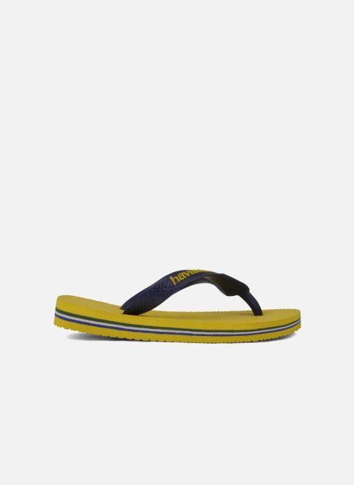 Chanclas Havaianas Brasil Logo E Amarillo vistra trasera