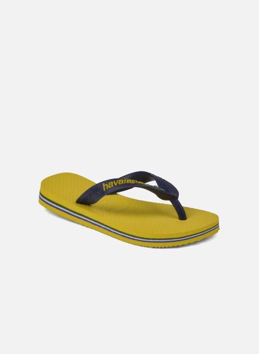 Zehensandalen Havaianas Brasil Logo E gelb detaillierte ansicht/modell