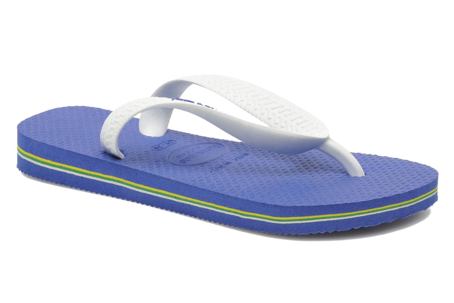 Flip flops Havaianas Brasil Logo E Blue detailed view/ Pair view