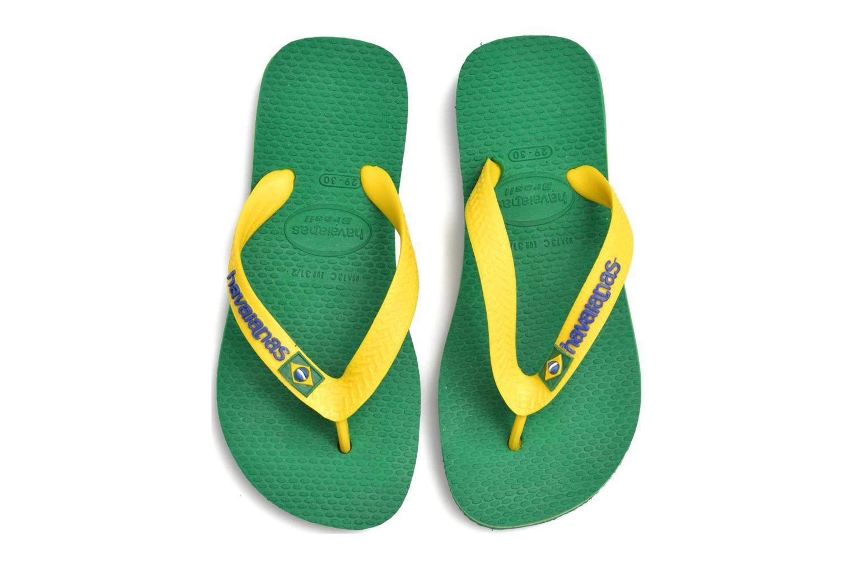 Flip flops Havaianas Brasil Logo E Green 3/4 view