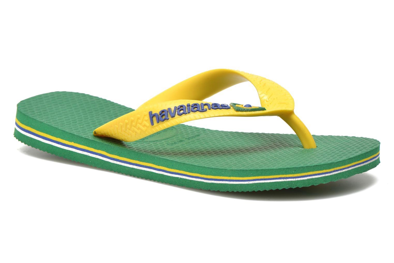 Flip flops Havaianas Brasil Logo E Green detailed view/ Pair view