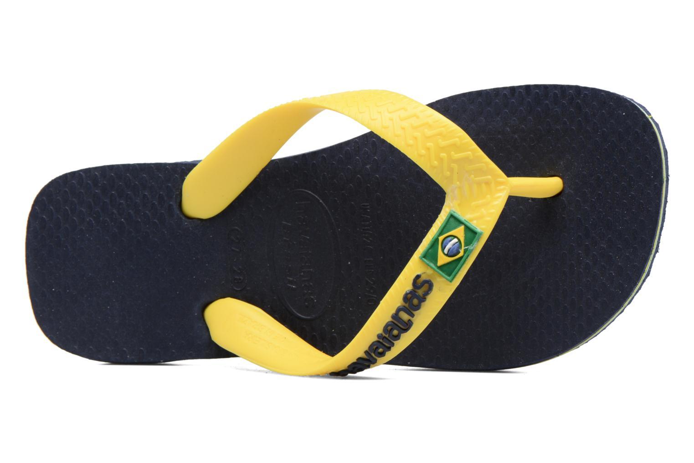 Chanclas Havaianas Brasil Logo E Azul vista lateral izquierda