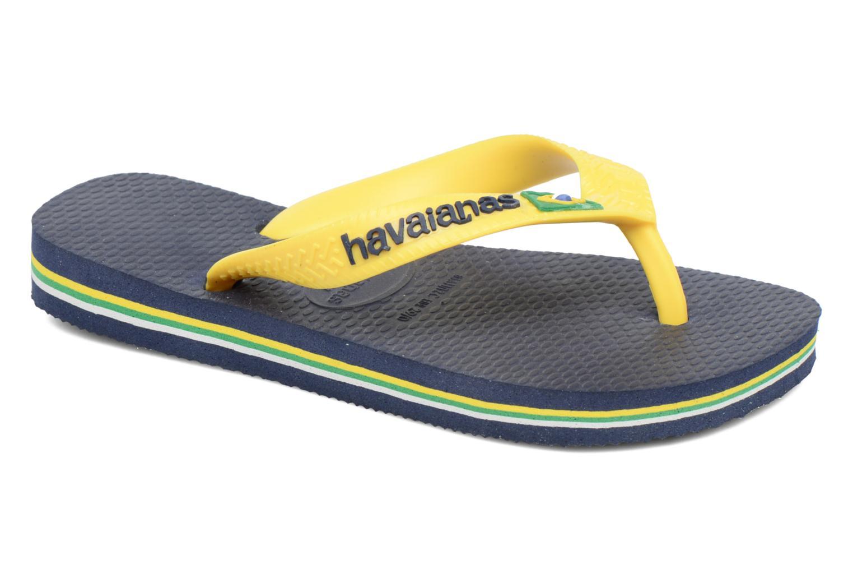 Chanclas Havaianas Brasil Logo E Azul vista de detalle / par