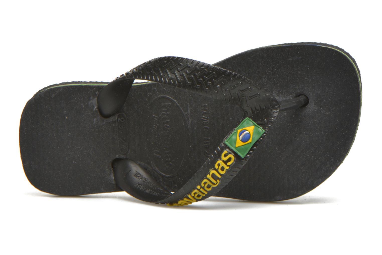 Tongs Havaianas Brasil Logo E Noir vue gauche