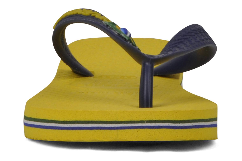 Flip flops Havaianas Brasil Logo E Yellow model view