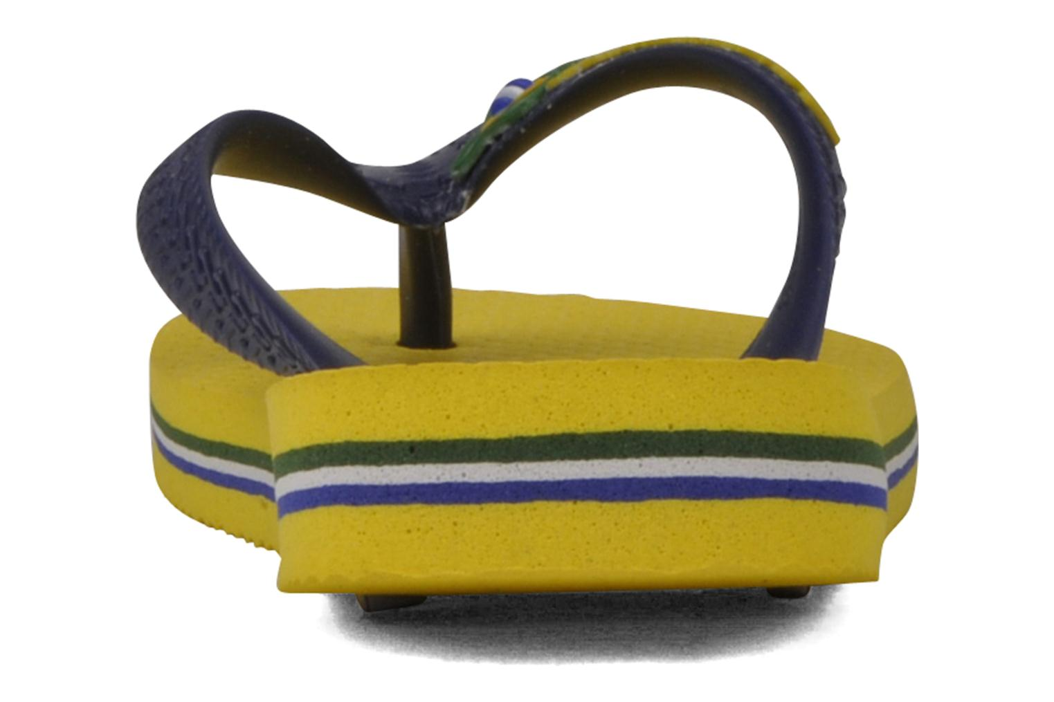 Flip flops Havaianas Brasil Logo E Yellow view from the right