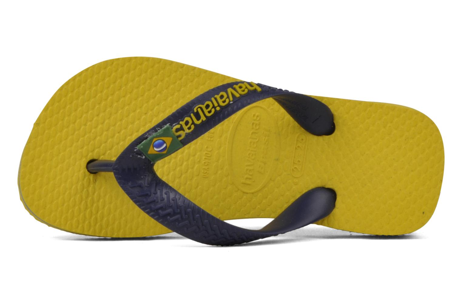 Flip flops Havaianas Brasil Logo E Yellow view from the left