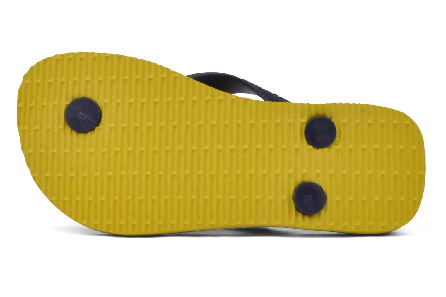 Flip flops Havaianas Brasil Logo E Yellow view from above