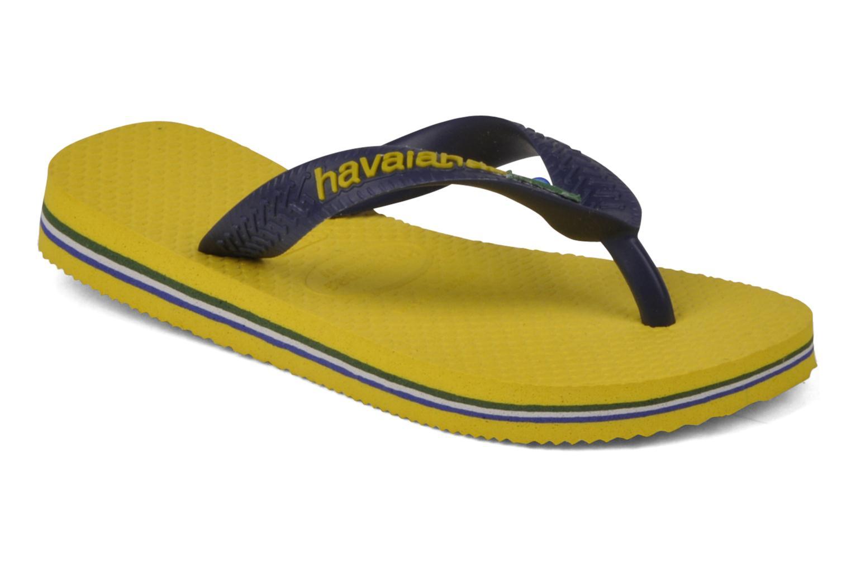 Flip flops Havaianas Brasil Logo E Yellow detailed view/ Pair view