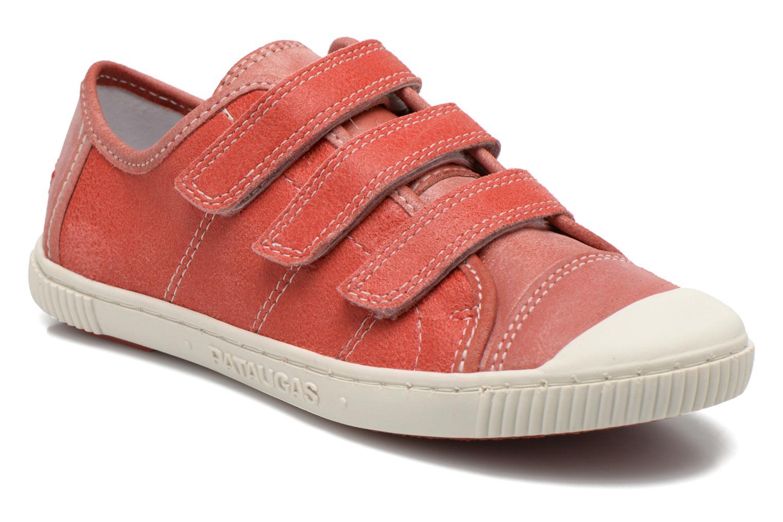 Sneakers Pataugas Bistrot Röd detaljerad bild på paret