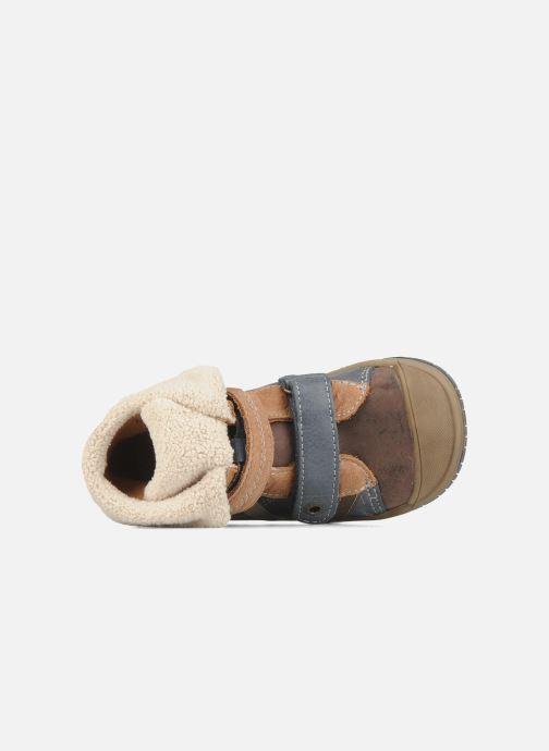 Zapatos con velcro Babybotte Acteur G Azul vista lateral izquierda