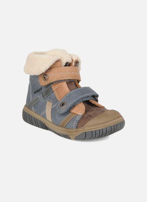 Chaussures à scratch Babybotte Acteur G Bleu vue détail/paire