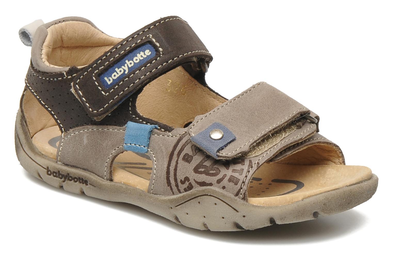 Sandales et nu-pieds Babybotte Toto Marron vue détail/paire