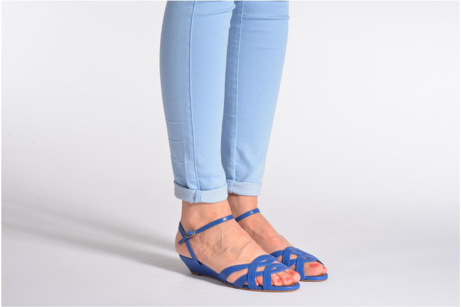 Sandals Pastelle Cerfeuil Orange view from underneath / model view