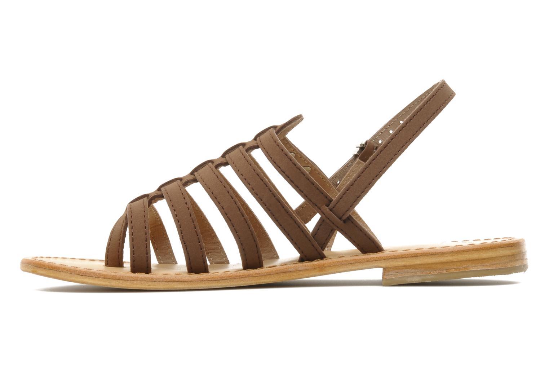 Sandales et nu-pieds Les Tropéziennes par M Belarbi Hook Marron vue face