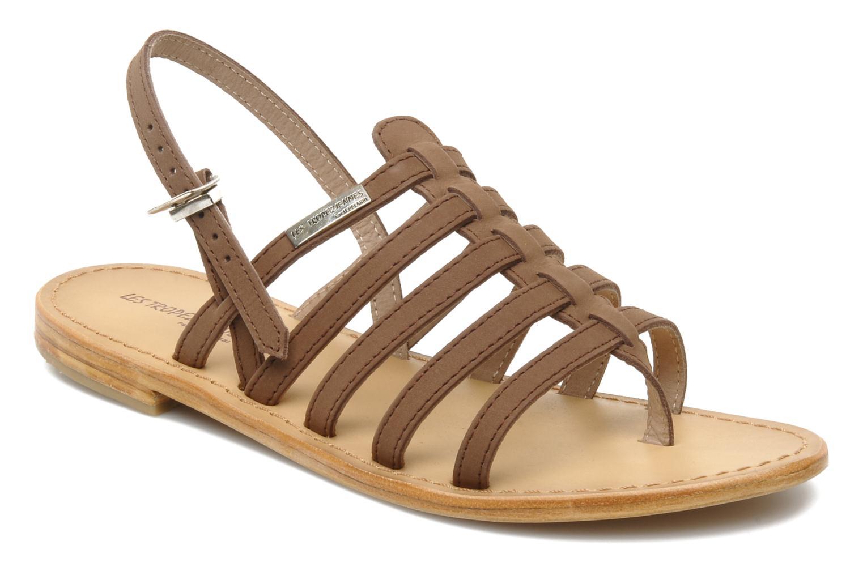 Sandales et nu-pieds Les Tropéziennes par M Belarbi Hook Marron vue détail/paire