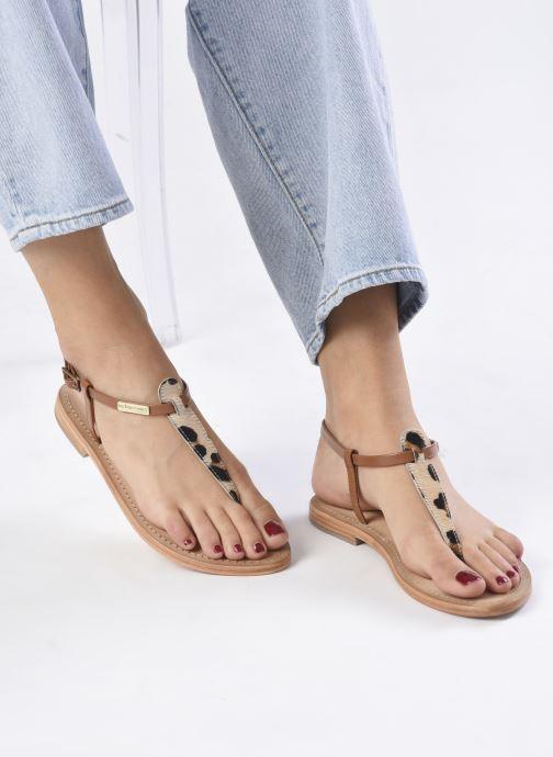 Sandalen Les Tropéziennes par M Belarbi Narvil beige ansicht von unten / tasche getragen