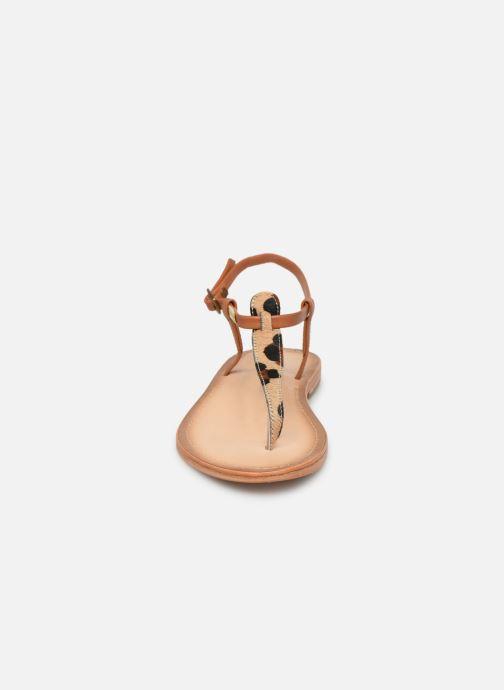 Sandales et nu-pieds Les Tropéziennes par M Belarbi Narvil Beige vue portées chaussures