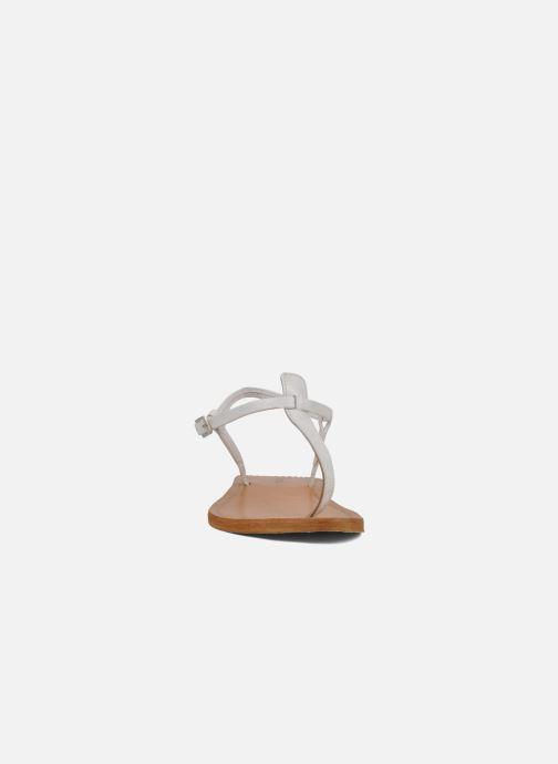 Sandales et nu-pieds Les Tropéziennes par M Belarbi Narvil Blanc vue portées chaussures