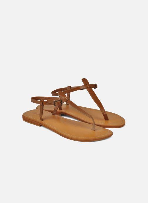 Sandales et nu-pieds Les Tropéziennes par M Belarbi Narvil Marron vue 3/4