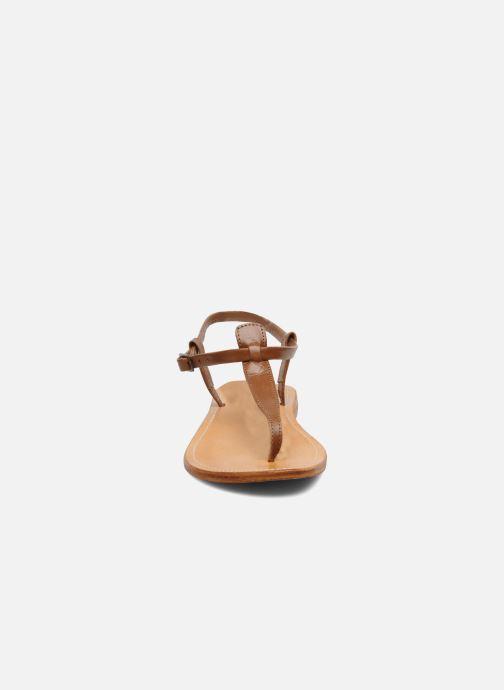Sandales et nu-pieds Les Tropéziennes par M Belarbi Narvil Marron vue portées chaussures