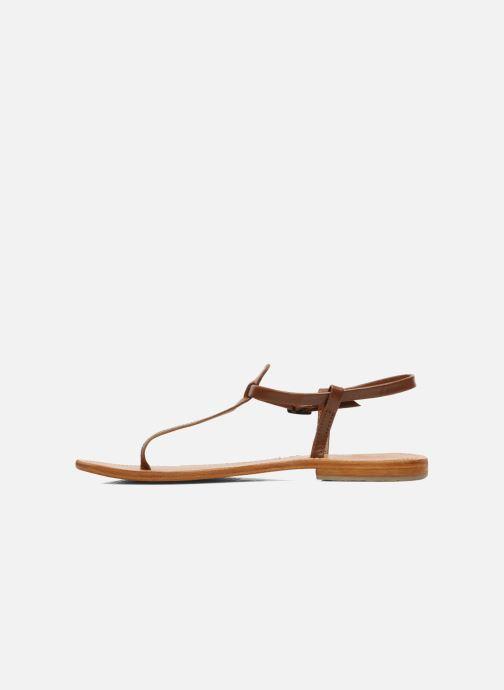 Sandales et nu-pieds Les Tropéziennes par M Belarbi Narvil Marron vue face